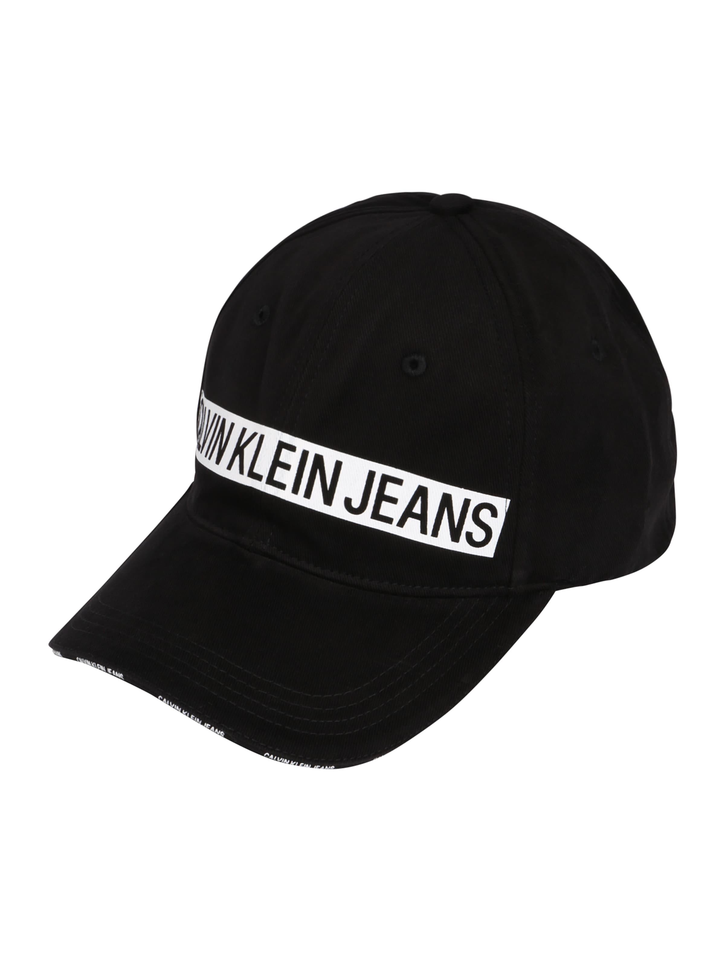 Calvin M' 'j In Schwarz Jeans Klein Cap Logo Tape bf6g7yvY