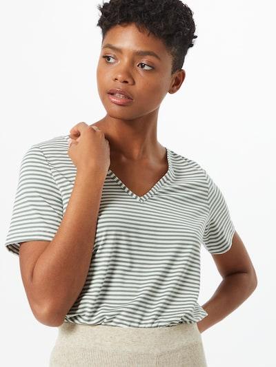 VERO MODA Koszulka 'POLLY' w kolorze pastelowy zielony / białym: Widok z przodu