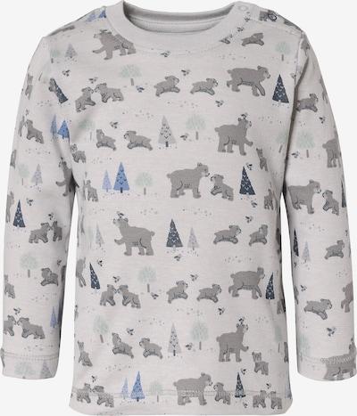 People Wear Organic Langarmshirt in grau / dunkelgrau, Produktansicht