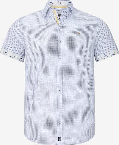 Jan Vanderstorm kurzarmhemd in blau / weiß, Produktansicht