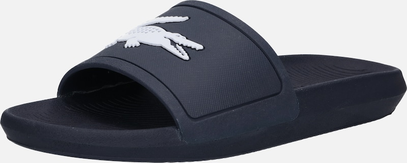 Marine ClaquettesTongs 'croco' Blanc En Bleu Lacoste IY6vb7fgy