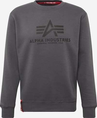 ALPHA INDUSTRIES Sweatshirt in dunkelgrau, Produktansicht