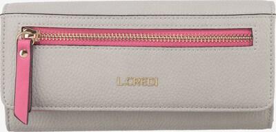 L.CREDI Portemonnaie 'Emerita' in hellgrau / pink, Produktansicht