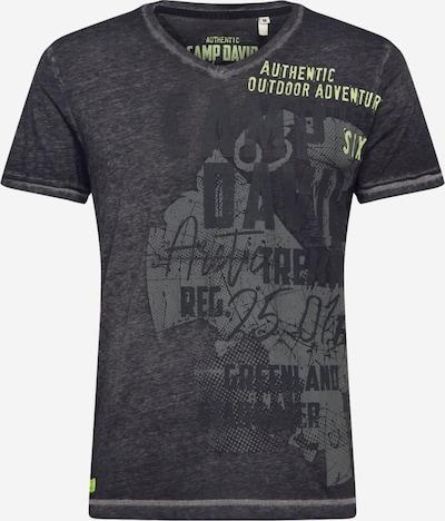 CAMP DAVID T-Shirt en jaune fluo / gris foncé, Vue avec produit