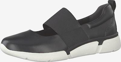 MARCO TOZZI Riemchenballerina in schwarz / weiß, Produktansicht