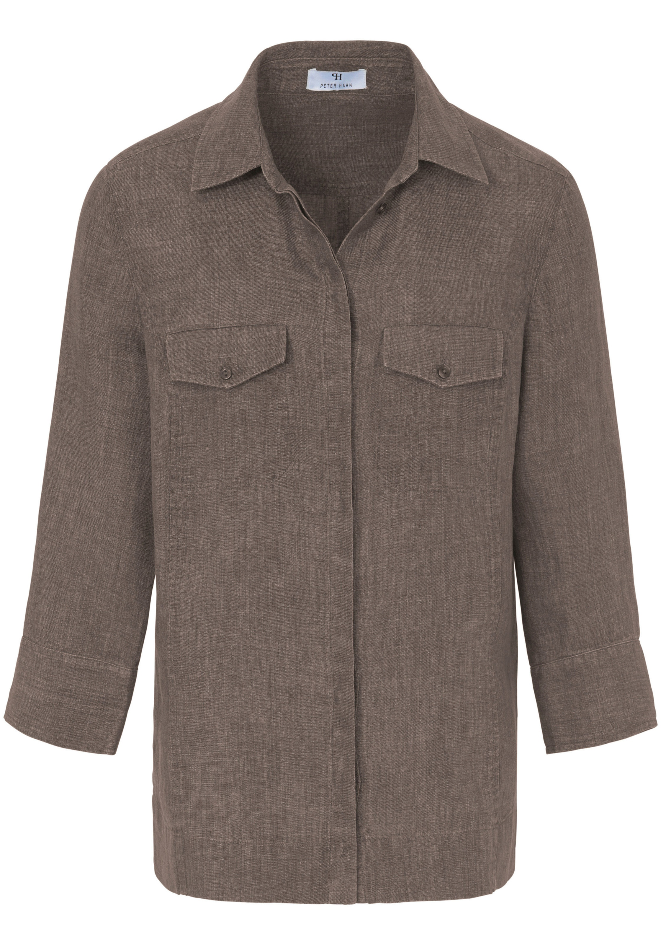 Hahn Bluse Peter Taupe Hahn In Peter In Taupe Bluse Peter wmN80n