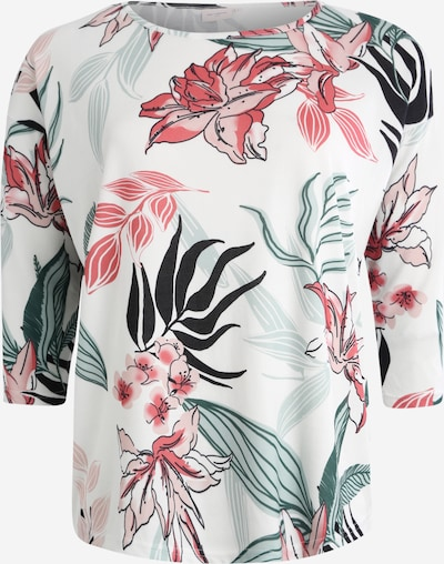 ONLY Carmakoma T-Krekls 'CARALBA' pieejami piparmētru / rožkrāsas / balts, Preces skats
