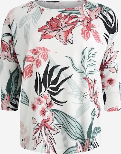 ONLY Carmakoma Shirt 'CARALBA' in de kleur Mintgroen / Rosa / Wit, Productweergave