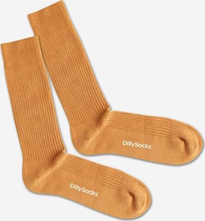 Șosete DillySocks pe galben auriu / alb, Vizualizare produs