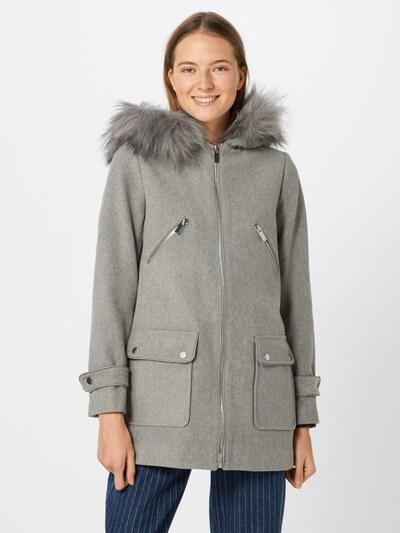NEW LOOK Manteau d'hiver '13.02 WW MADISON FUR HOOD DUFFLE P8' en gris clair, Vue avec modèle