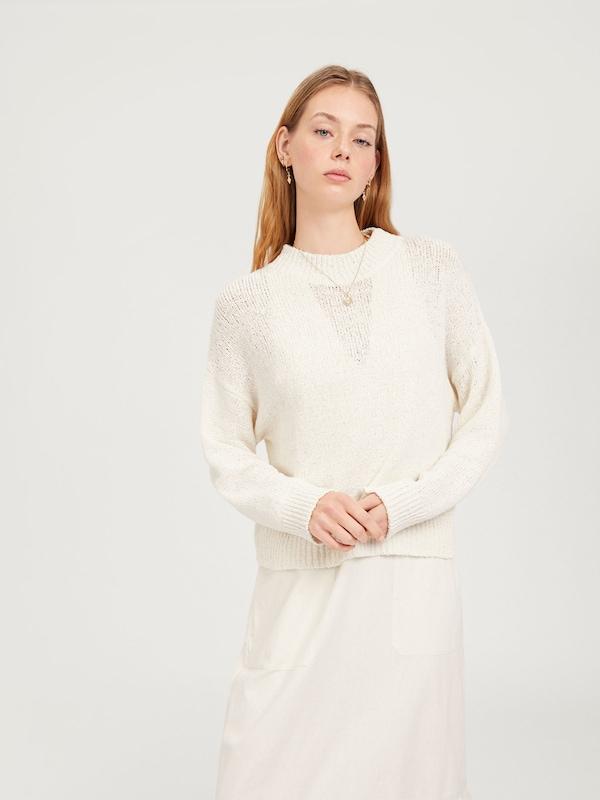 EDITED Pullover 'Miako' in weiß  Bequem Bequem Bequem und günstig afb7b8