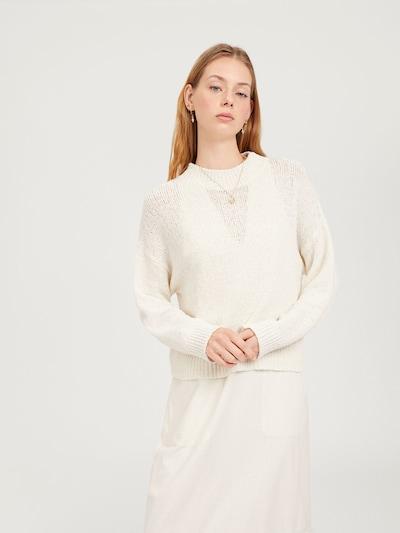 Pulover 'Miako' EDITED pe alb: Privire frontală