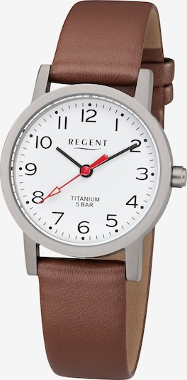 REGENT Uhr in braun / silber / weiß, Produktansicht