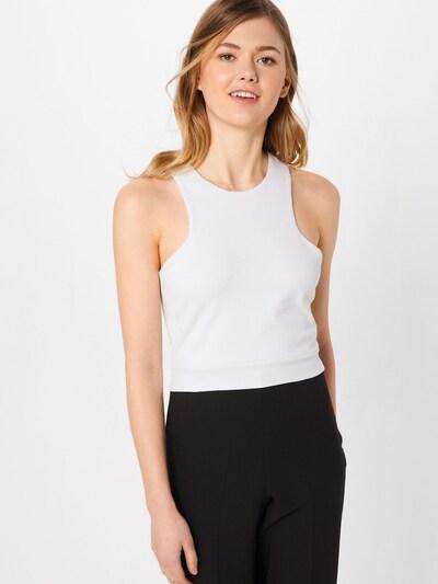 Urban Classics Haut 'Ladies Squared' en blanc, Vue avec modèle