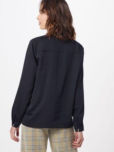 Esprit Collection Blouse 'New floaty satin' in de kleur Zwart: Achteraanzicht