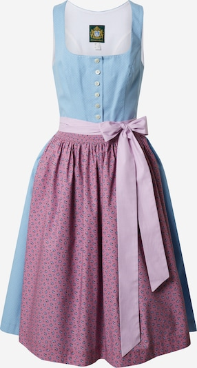 HAMMERSCHMID Dirndl 'Koflersee' in smoke blue / purple / pink, Item view