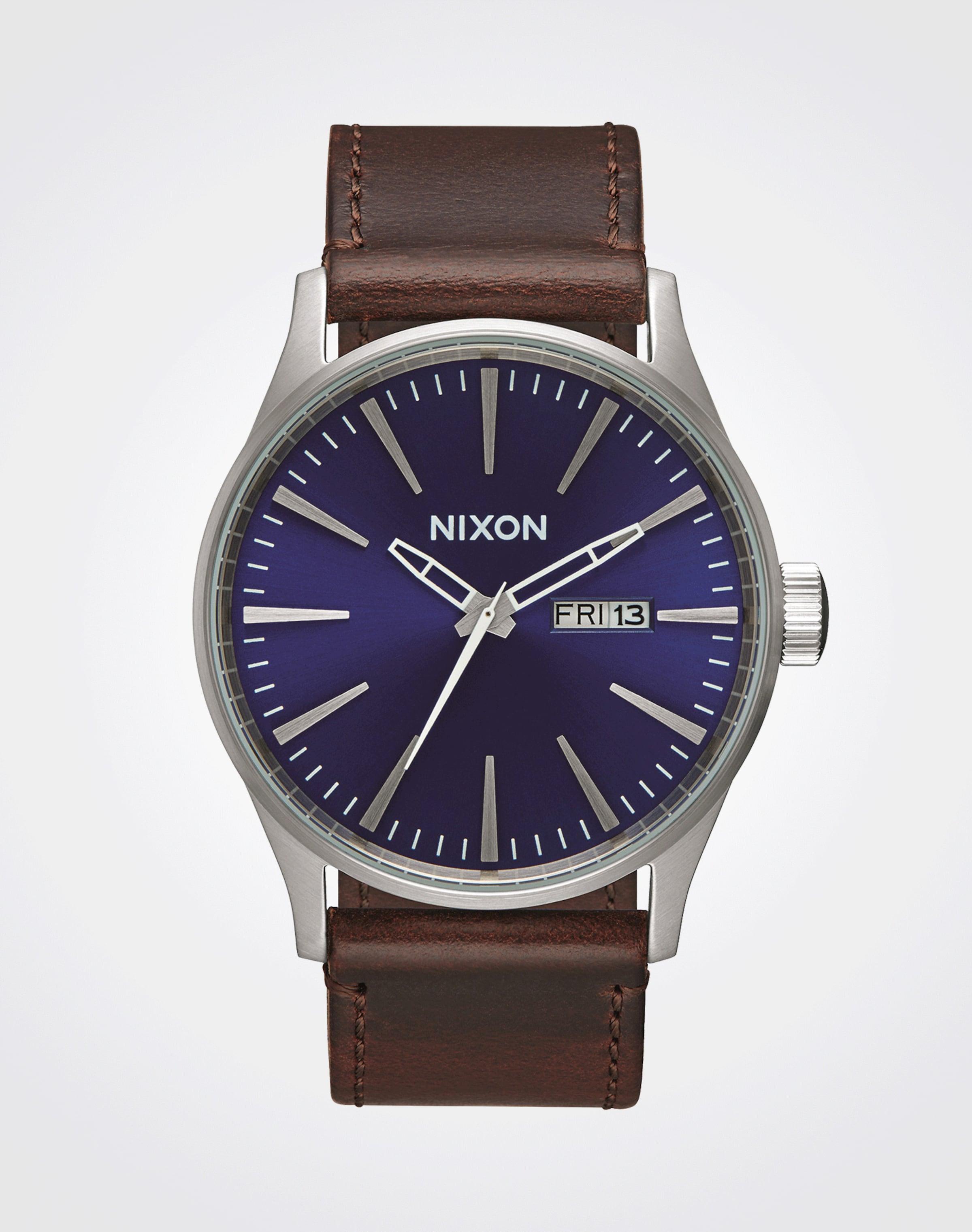 Billig Verkauf Versand Niedriger Preis Gebühr Bestes Geschäft Zu Erhalten Online-Verkauf Nixon Armbanduhr 'Sentry Leather' Nett Einen Günstigen Preis MEYFAue