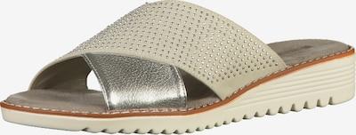 Jenny Pantoletten in grau / silber, Produktansicht