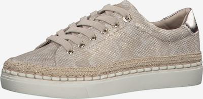s.Oliver Sneaker in beige / champagner / gold / silber, Produktansicht