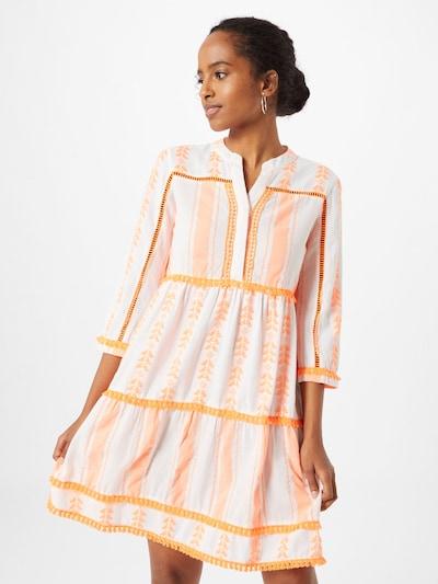 Rich & Royal Kleid in orange / weiß, Modelansicht