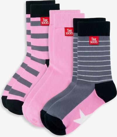 Tag SOCKS Socken in grau / pink / schwarz, Produktansicht