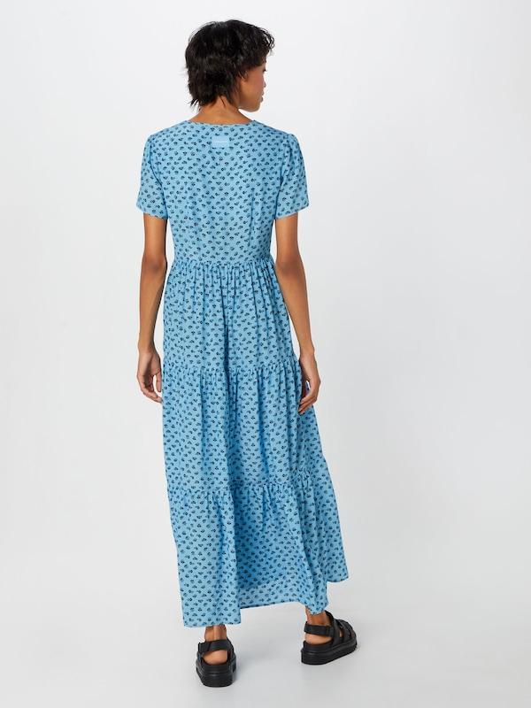 Ss Gathered Klein En Robe Dress' Bleu D'été Calvin Jeans 'midi dCoerWxB