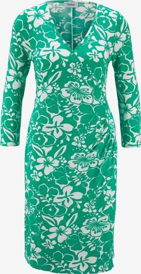 heine Jerseykleid in hellgrün / weiß, Produktansicht