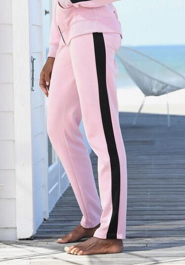 BENCH Hose in rosa / schwarz, Produktansicht