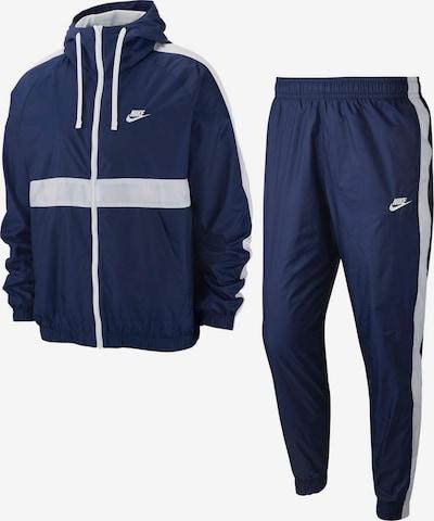 NIKE Trainingsanzug 'NSW' in dunkelblau / weiß, Produktansicht