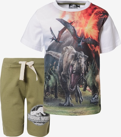 Jurassic World Set T-Shirt + Shorts in grün / weiß, Produktansicht