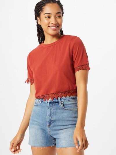 GLAMOROUS Tričko - rezavě červená: Pohled zepředu
