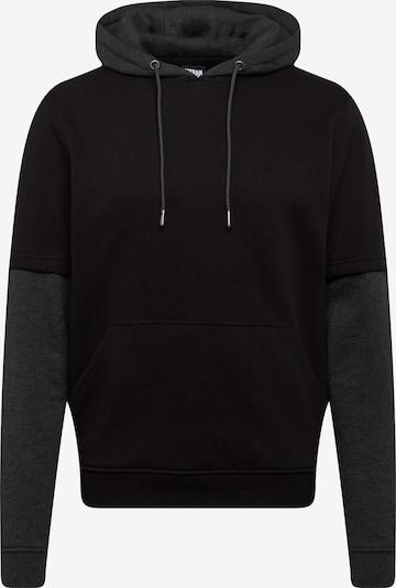 Urban Classics Sweatshirts 'Double Layer Hoody' in dunkelgrau / schwarz, Produktansicht