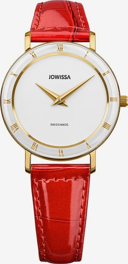 JOWISSA Quarzuhr 'Roma' in gold / rot / weiß, Produktansicht