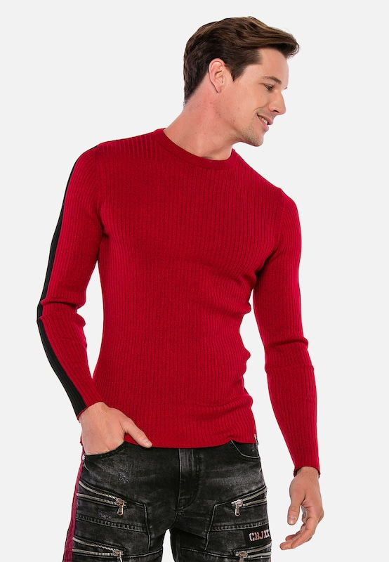 CIPO & BAXX Pullover in rot: Frontalansicht