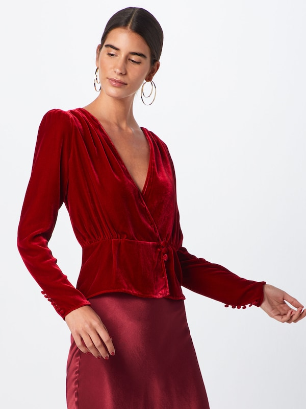 The Kooples Bluse in rot, Modelansicht