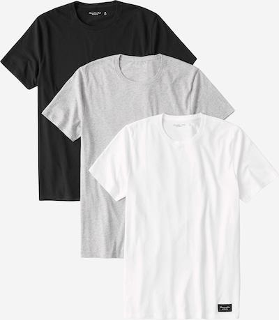 Abercrombie & Fitch Shirt 'CREW MULTIPACK' in grau / schwarz / weiß, Produktansicht