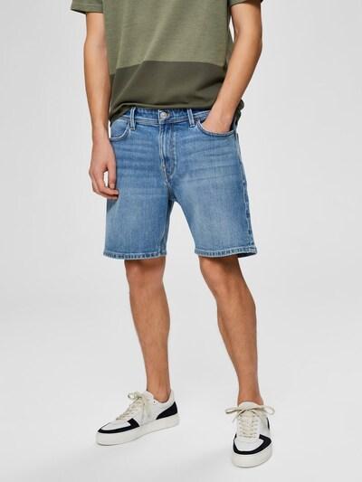 SELECTED HOMME Komfortstretch Jeansshorts in blue denim: Frontalansicht