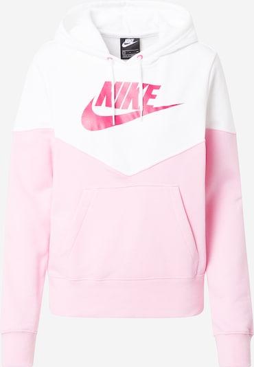 Bluză de molton 'Heritage' Nike Sportswear pe roz / alb: Privire frontală