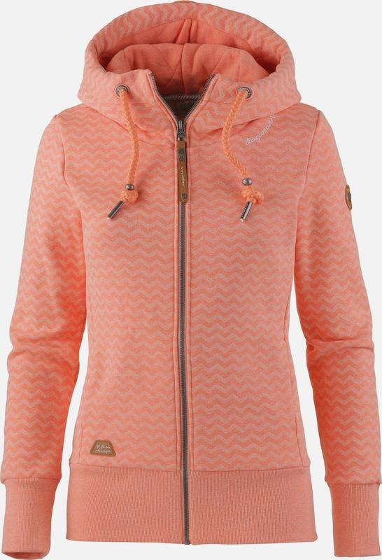 Ragwear Sweatjacke ' Yoda' in apricot  Markenkleidung für Männer und Frauen