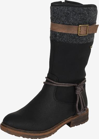 RIEKER Stiefel in braun / schwarz, Produktansicht