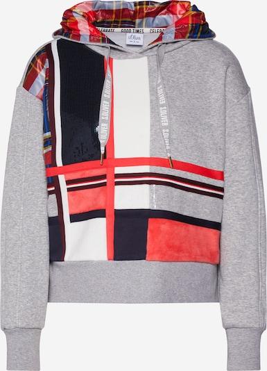 s.Oliver Sweatshirt in navy / grau / mischfarben / rot / weiß, Produktansicht