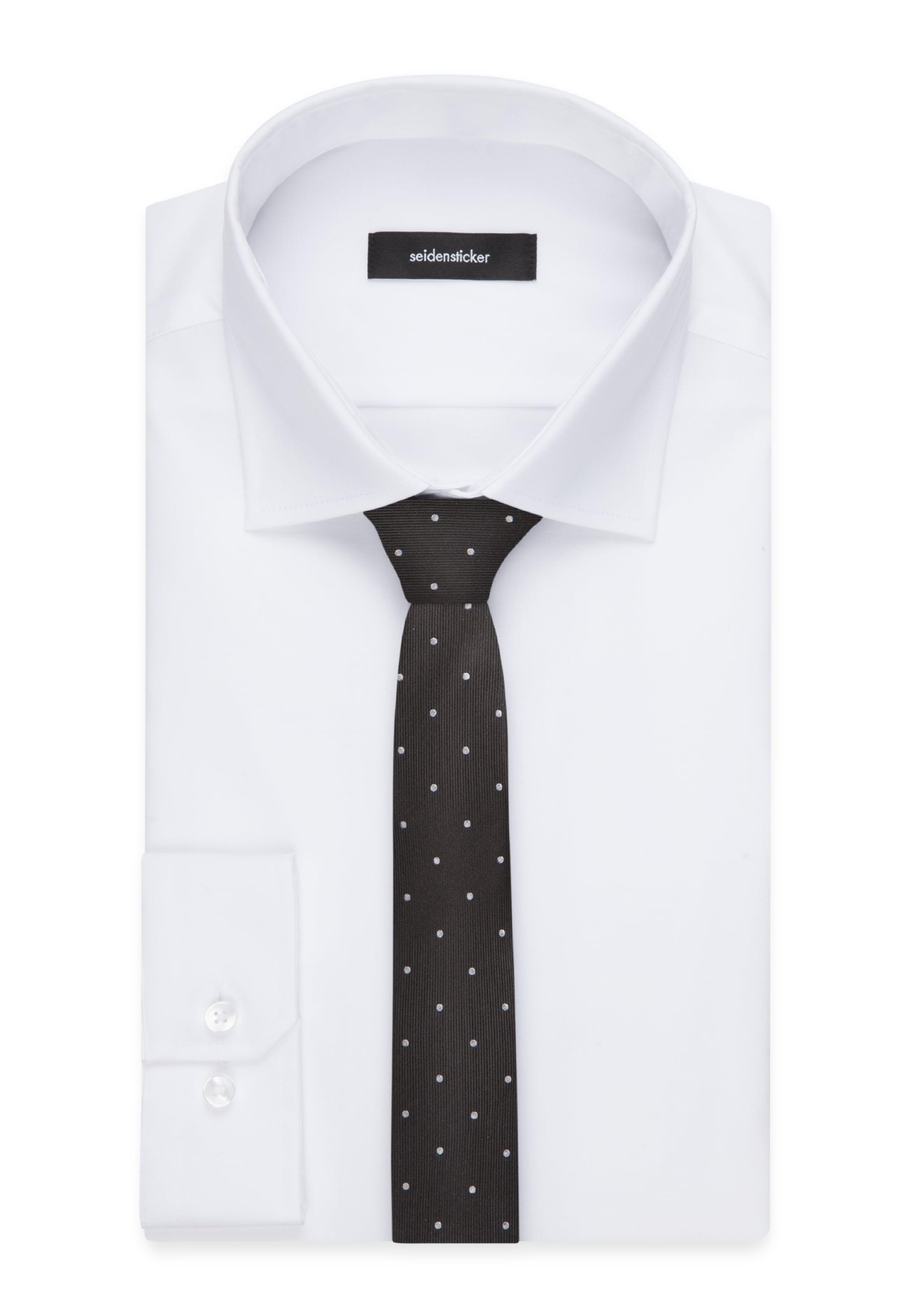 Krawatte Seidensticker 'slim' In SchwarzWeiß Seidensticker 'slim' Seidensticker Krawatte SchwarzWeiß Krawatte 'slim' In vO80PymNnw