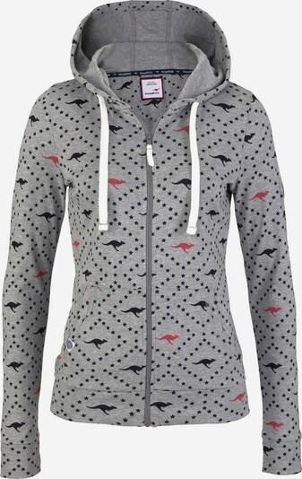 KangaROOS Shirtjacke in graumeliert / pastellrot / schwarz / weiß, Produktansicht