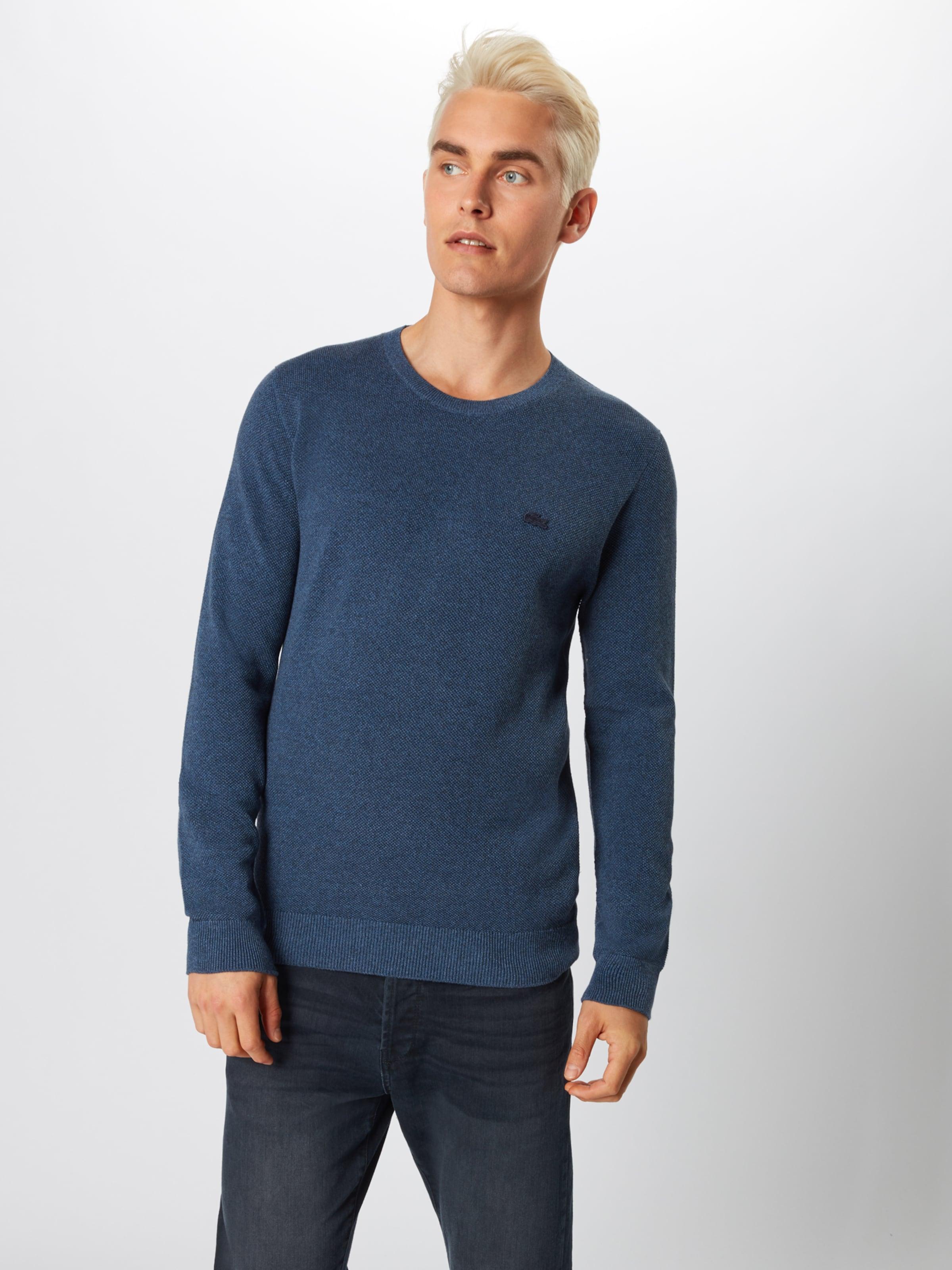 En Indigo over Lacoste 'tricot' Pull lKTF3Jc1