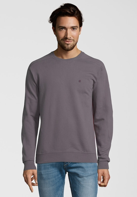 Shirts for Life Sweatshirt 'Brian' in rauchgrau: Frontalansicht