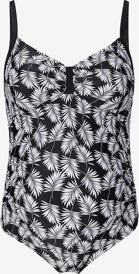Noppies Badpak 'Fiji' in de kleur Zwart / Wit, Productweergave