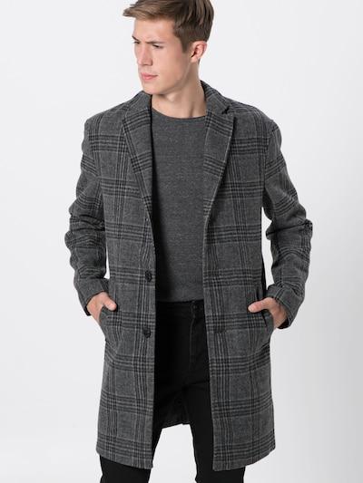 Review Manteau mi-saison 'WOOL OPTIC CHECK' en anthracite, Vue avec modèle