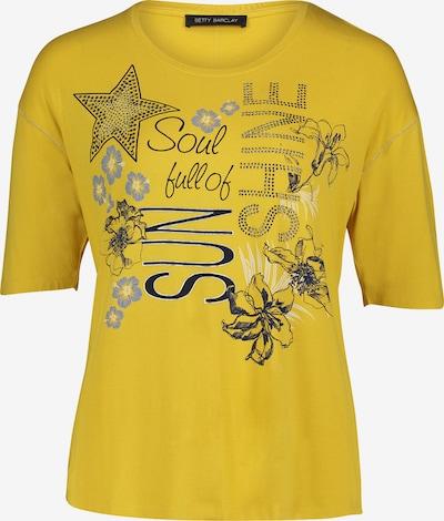 Betty Barclay Oversize-Shirt mit Placement in dunkelblau / gelb, Produktansicht