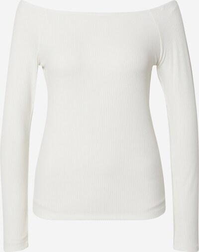 VILA Shirt 'VIEDEL L/S OFFSHOULDER RIB TOP/ZA' in offwhite, Produktansicht