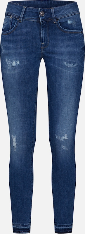 star Rp G In Blauw Raw Mid Skinny Jeans 'lynn Ankle' WE2Y9DHI